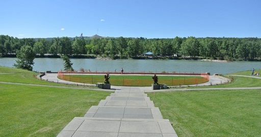 Bow River view from Baker Park