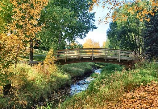 Confederation Park bridge in Autumn