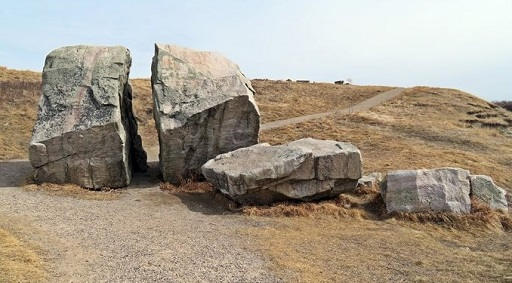 Split Rock, a well-known glacial erratic at Confluence Park