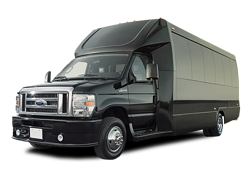 Black Ford E450 Party Bus
