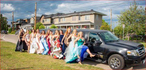 Ladies graduation celebration with black Expedition Limousine