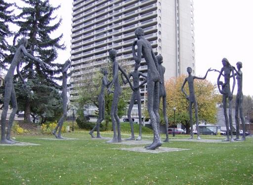 Family of Man Park in Calgary