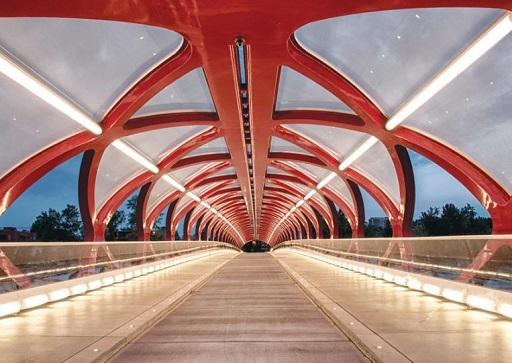 Inside the Peace Bridge