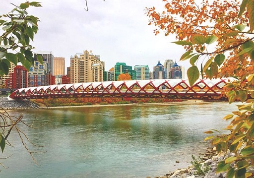 Captured from the Memorial Drive side of the Peace Bridge