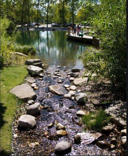 Creek and path at Pearce Estates Park