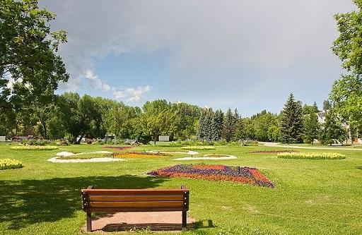 Riley Park Flower Garden in Summer