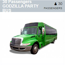 GODZILLA Party Bus (30 Passengers)