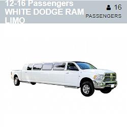 White Dodge Ram Limo (12-16 Passengers)