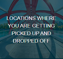 Locations for Pick-up and Drop-off